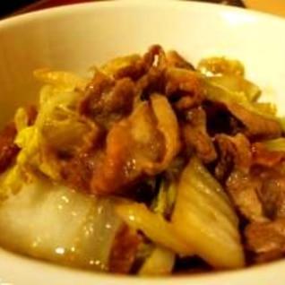 簡単、早い、白菜と豚肉の醤油炒め