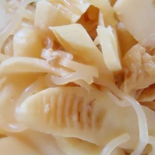竹の子と白滝と油揚げの煮物