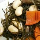 めんつゆで☆刻み昆布と大豆の煮もの