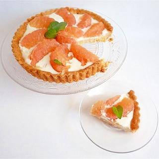 グレープフルーツチーズタルト