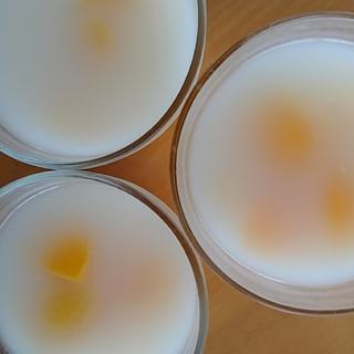 桃缶のカルピスゼリー
