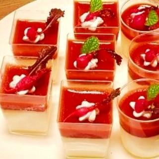 トマト☆パンナコッタ紅白ゼリー