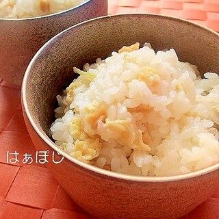 おつまみで簡単!ホタテの貝ヒモと生姜の炊き込みご飯