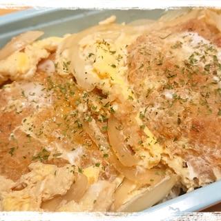 手抜き弁当☆コロッケの卵とじ丼