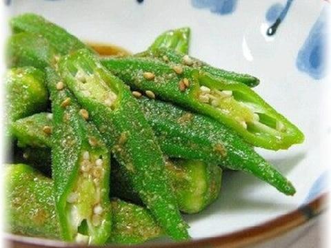 """さっと夏野菜""""オクラの胡麻和え"""""""