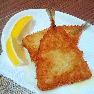 オリーブオイルで揚げたアジフライ★レモンそえ