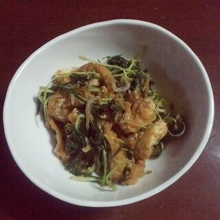 水菜と油揚げの炒め物