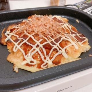 チーズ!もち!キムチ!のお好み焼き