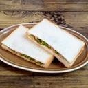 ♪ツナピーマンとベビーリーフのサンドイッチ♪