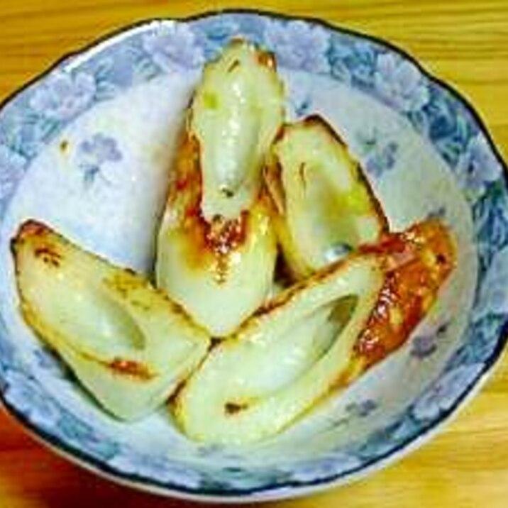 竹輪のわさびマヨネーズ炒め