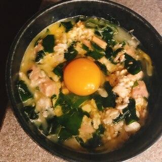 オートミール雑炊〜ツナ卵