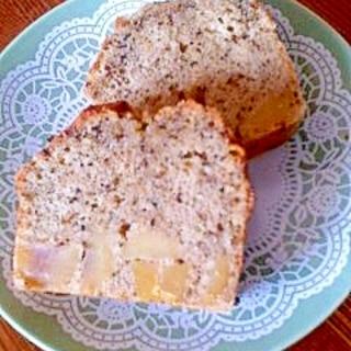 ほうじ茶と栗のパウンドケーキ風