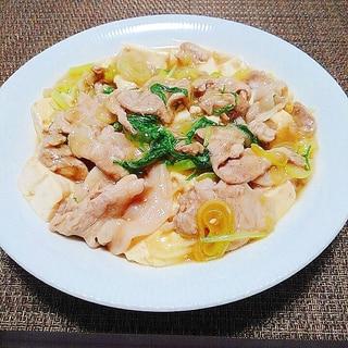 切って放り込むだけ!豚と豆腐の簡単中華煮