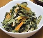 小松菜と根菜の炒め煮