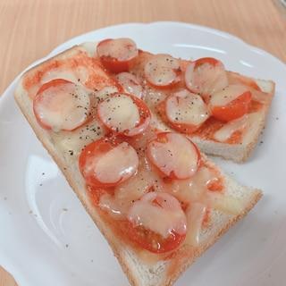 簡単トマトのピザトースト