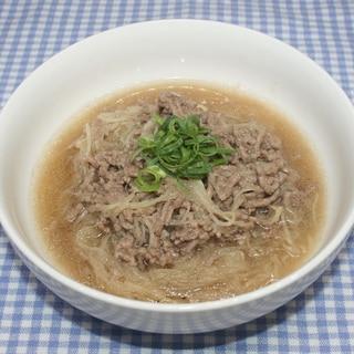 ドライベジタブル麺☆乾燥かぶ麺でひき肉あんかけ