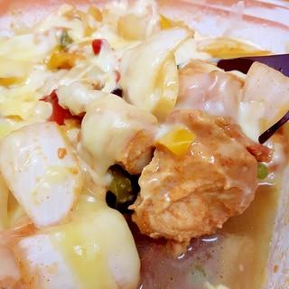 子供が喜ぶ(^^)鶏むね肉とパプリカのタッカルビ♪