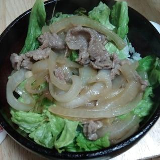 ヘルシー サラダ牛丼