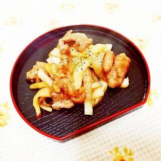 まろやか味噌風味♪りんごと大根の生姜焼き