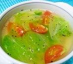 簡単でうまい!ミニトマトとレタスの中華スープ
