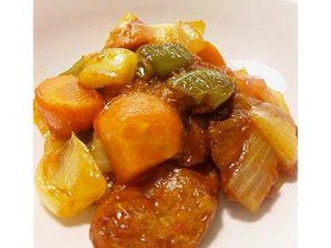 有機野菜と大豆ミートの酢豚風