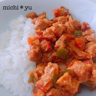 【ヘルシー・ダイエットに♪】高野豆腐でドライカレー