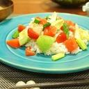 サーモンと春色野菜のちらし寿司