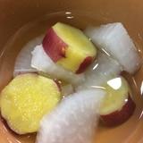 サツマイモとダイコンのエスニック風スープ☆