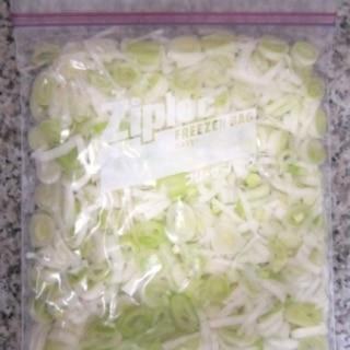 刻みネギ(長ネギ)冷凍保存