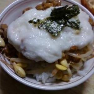 納豆の食べ方-キムチとろろ♪