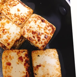 フライパンで焼き豆腐
