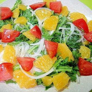 はっさくと春菊新玉ねぎのサラダ