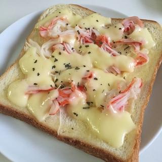 カニカマチーズトースト♪