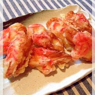 ちくわと千切り紅生姜の天ぷら