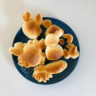 3歳の子どもと作るカラスのパン屋さんパン
