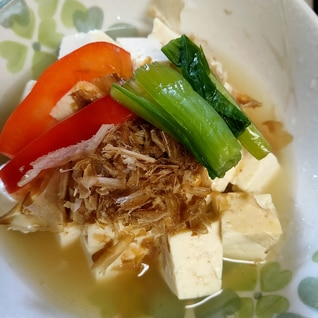 温豆腐の作り置き野菜のせ☆