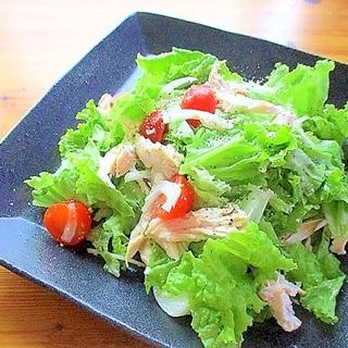 ヘルシー&簡単!ゆで鶏とレタスのサラダ