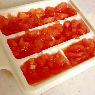 離乳食中期☆刻みトマトのフリージング