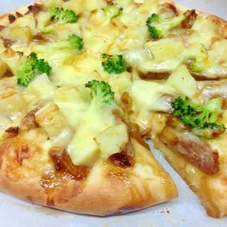 ステーキとポテトのピザ(HB使用)