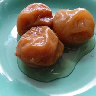 梅酒の梅の甘露煮(圧力なべ)