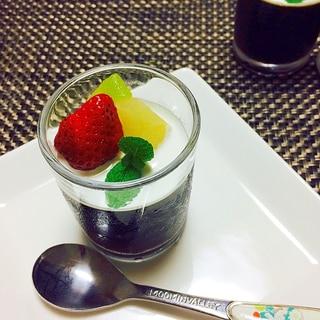 フルーツのせコーヒーゼリー(希少糖入り)