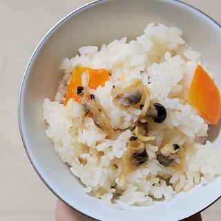 [3合炊き炊飯器]白だしであさりの炊き込みご飯
