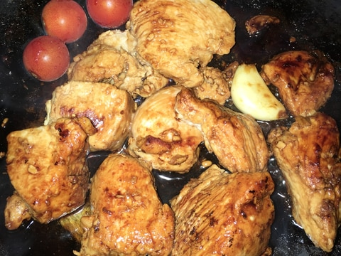 しっとり鶏胸肉のうなぎのタレ焼き