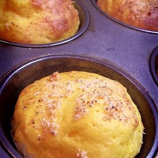 お食事系パンプキンチーズマフィン