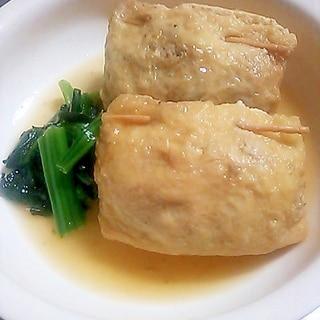 めんつゆで簡単!野菜たっぷり油揚げのきんちゃく煮