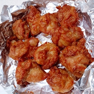 オイルまぶし不要の鶏肉の唐揚げ(ノンフライヤー)