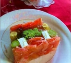 スモークサーモンと野菜のテリーヌ
