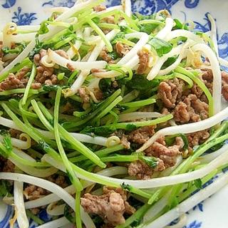 超簡単タイ料理❤ナンプラー味「もやし」&豆苗炒め♪