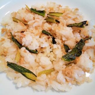 小松菜とツナのチャーハン