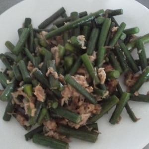 にんにくの芽とツナの炒め物
